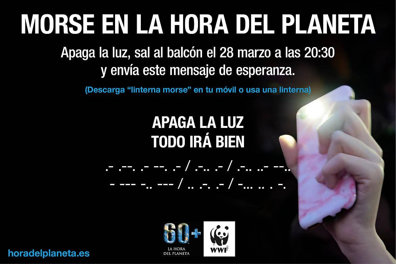 Morse por la naturaleza en Hora del Planeta 2020